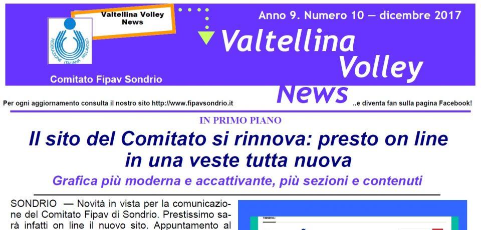 Pubblicato il Valtellina Volley News di aprile 2018