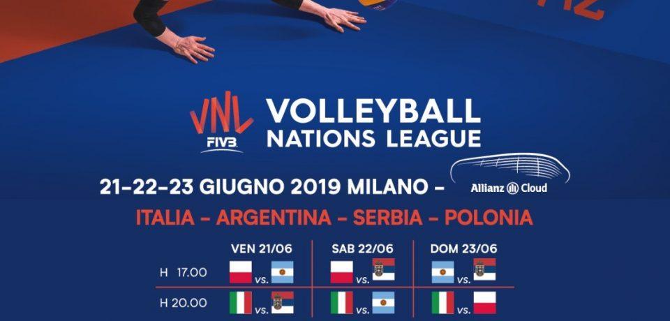 A Milano va in scena la Volleyball Nations League