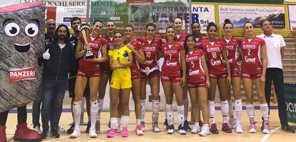 Spettacolo di volley d'alto livello a Chiavenna: il Busto Arsizio vince il Trofeo Bresaole d'Autore Panzeri