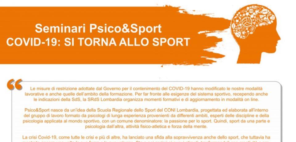 Seminari Psico&Sport COVID-19: SI TORNA ALLO SPORT